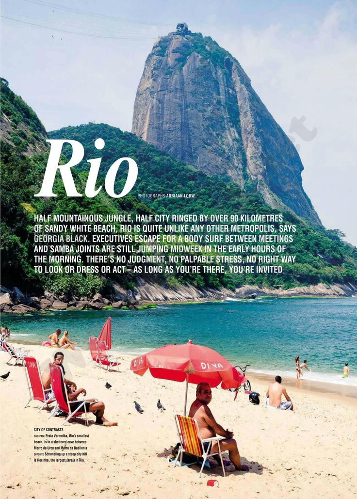 Rio de Janeiro, Brazil   National Geographic Traveller South Africa - March/May 2012