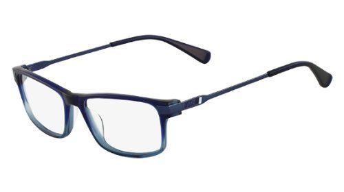 NIKE Eyeglasses 7217 400 Crystal Blue / Dark Blue 55MM Nike.