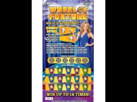 $10 WHEEL OF FORTUNE - WIN!  Lottery Bengal cat Scratch Off FLORIDA instant win tickets WIN! - http://LIFEWAYSVILLAGE.COM/lottery-lotto/10-wheel-of-fortune-win-lottery-bengal-cat-scratch-off-florida-instant-win-tickets-win/