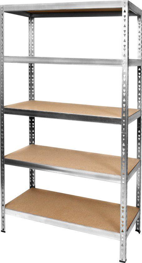bol.com | Opbergrek Standaard - Metaal - 875 kg draagkracht - Monteren zonder schroeven...