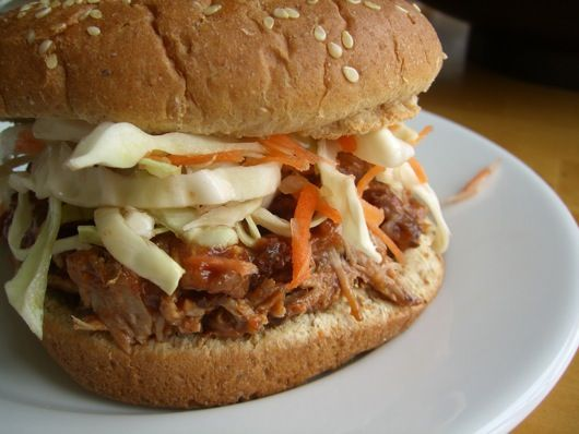 pulled pork sammy - seriously comforting.