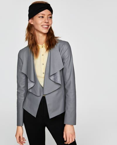 FAUX LEATHER JACKET WITH FLOWING LAPELS-JACKETS-WOMAN | ZARA United States