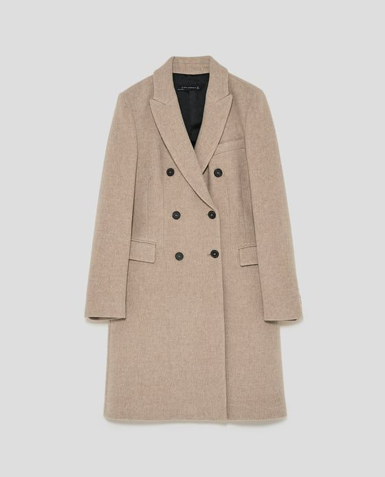 Image 8 of DOUBLE BREASTED COAT from Zara