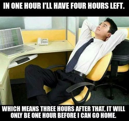 And being at work is like this: