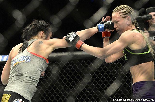 UFC 186 results: Valerie Letourneau batters Jessica Rakoczy's eye, takes decision UFC 186  #UFC186