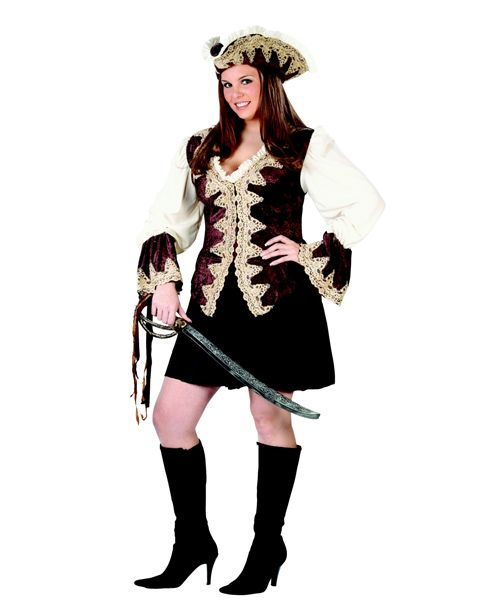 Deluxe Pirate Lady Plus Adult Costume