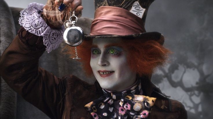 """""""Have you any idea why a raven is like a writing desk?"""" -Mad Hatter, Tim Burton's Alice in Wonderland #DisneyQuotes"""