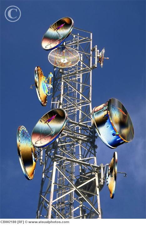 Microwave transmission tower