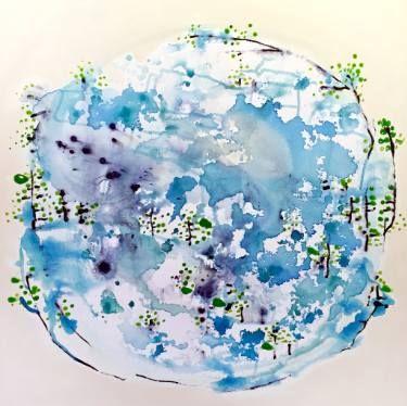 """Saatchi Art Artist Randi Antonsen; Painting, """"nord"""" #art"""