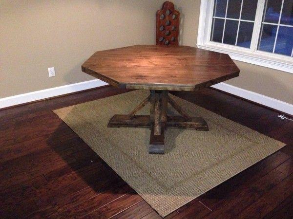 Best 20+ Octagon table ideas on Pinterest   Wooden table top ...