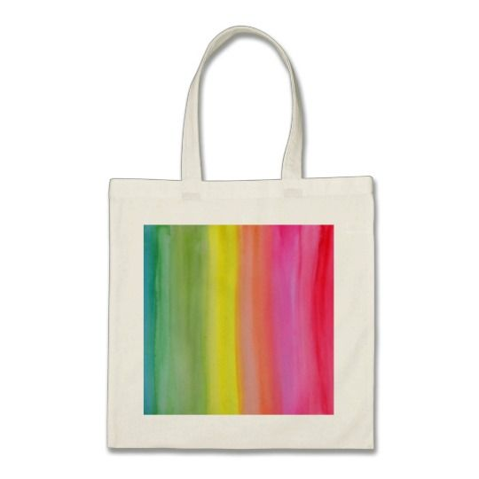 Ombre Watercolor Print Tote Summer Colours