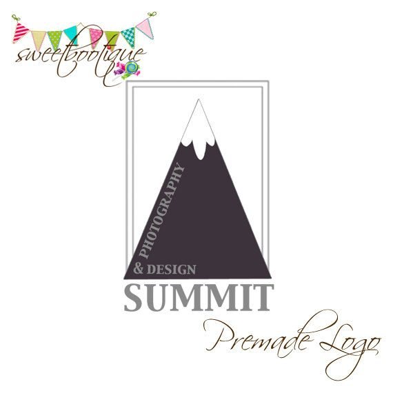 FULLY CUSTOMISABLE  Premade Logo  Summit by SweetBootique on Etsy