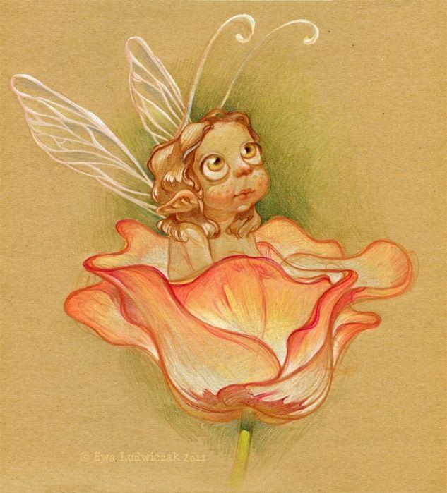 Фея в тюльпане