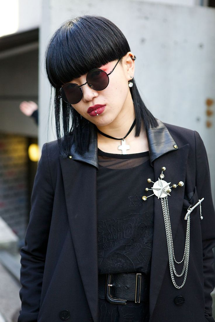Street Style: Tokyo Fashion Week Fall 2014 - Vogue that brooch. Sweet Zeus' lightening bolt. May I have it?