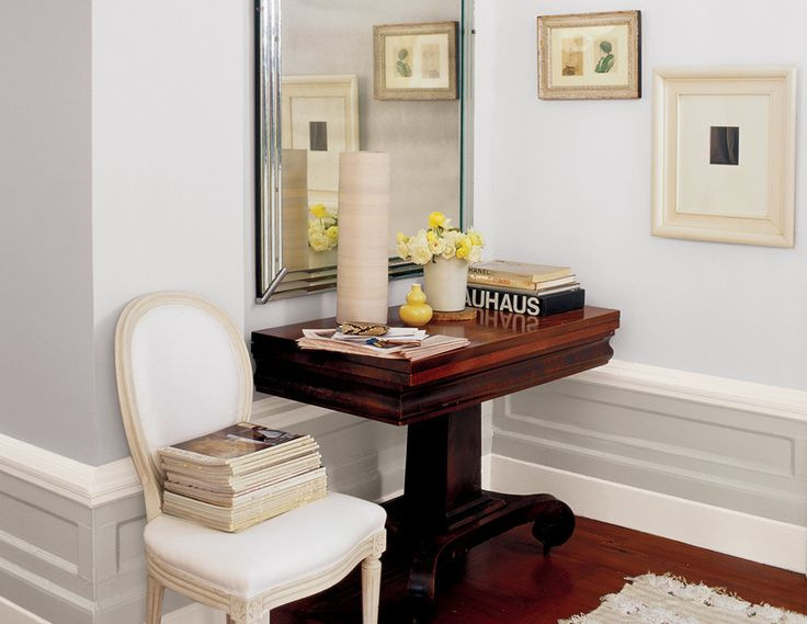 """our favorite entryway paint color ideas on domino.com  """"Blackened estate emulsion"""" by Farrow & Ball;"""