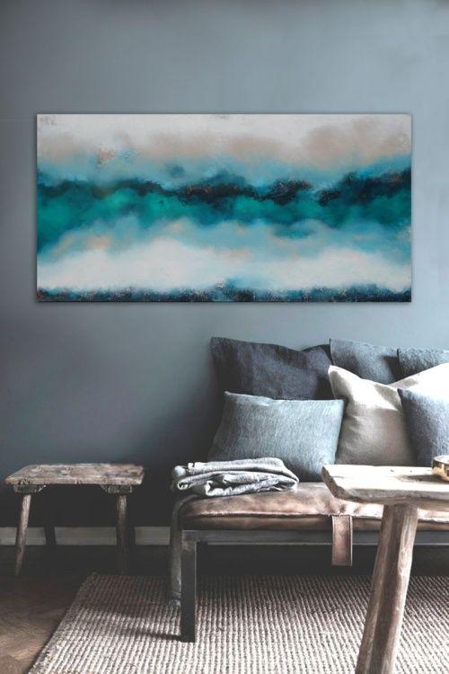 deep edge blue (2016) Acrylic painting by Dee Brown | Artfinder