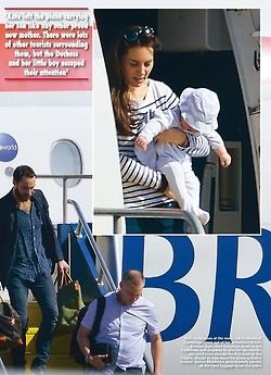 The exclusive photos of #PrinceGeorge and #Kate as they land in Mustique - found in HELLO Mag posted via minimiddleton.tu