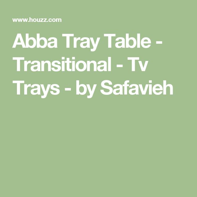 Abba Tray Table - Transitional - Tv Trays - by Safavieh