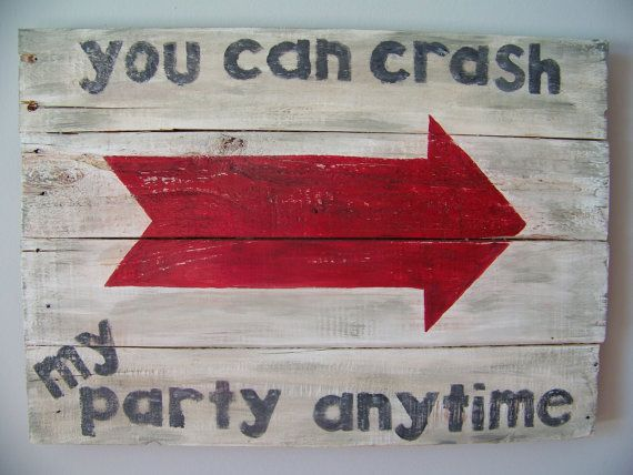 Reclaimed wood sign Red Arrow. Luke Bryan song by GrayKeyDesigns