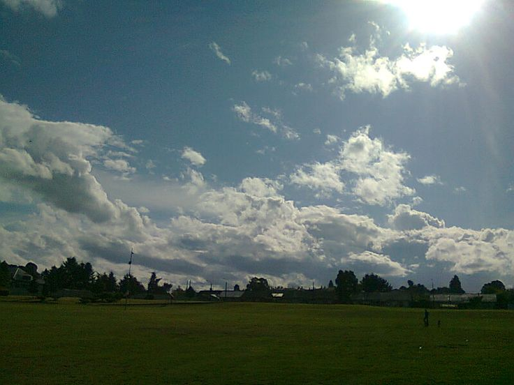 un verdadero cielo a campo abierto en tierra sureña... sólo sentir y respirar profundo.
