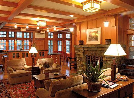 Woodwork finishes for the craftsman home craftsman Craftsman home interior