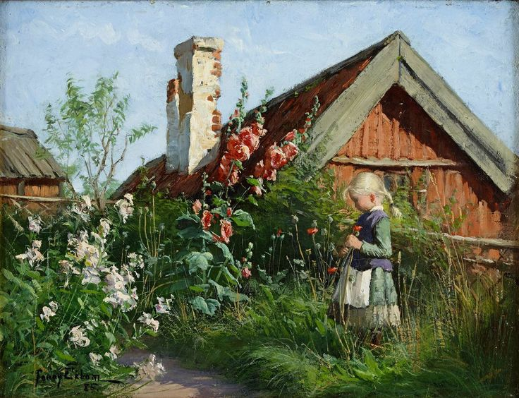 Girl in a Blooming Garden, Fanny Brate