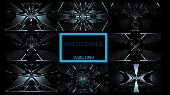 Geotunnel Background VJ Pack