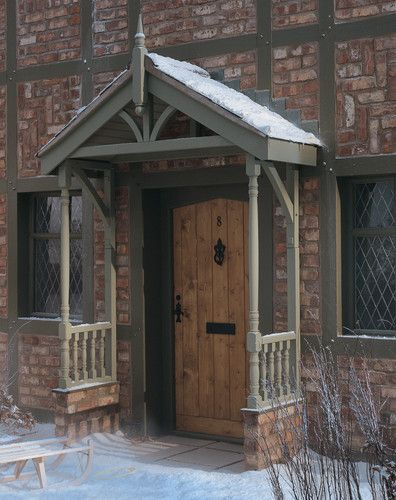 25 best ideas about door canopy on pinterest porch for Front porch roof kits