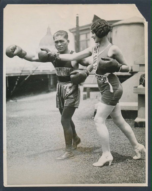 """Boxing History on Twitter: """"Francisco Guilledo, AKA Pancho Villa, first Filipino champion, with Miss San Francisco in 1925 #boxing…"""