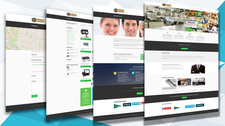 Detalles del proyecto de desarrollo y diseño de web para empresa de servicios de venta e instalación de balanzas y equipamientos industriales para negocios.  #desarrolloweb #diseñoweb #mantenimientoweb #seo