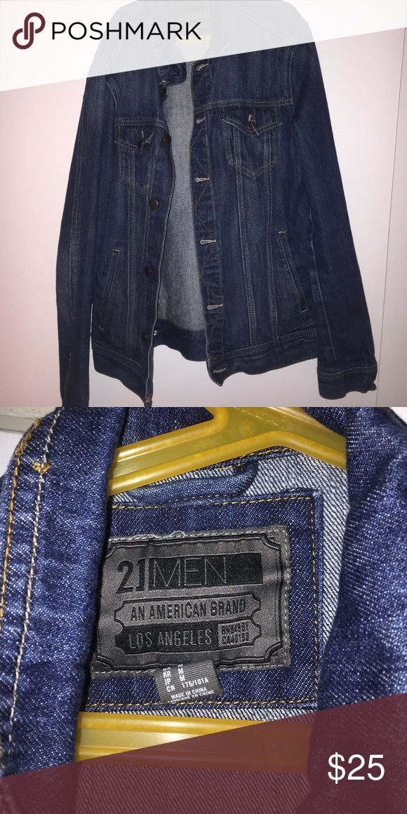 Forever 21 men's jean jacket can't fit I'm an XL and it's a medium in great condition Forever 21 Shirts Sweatshirts & Hoodies