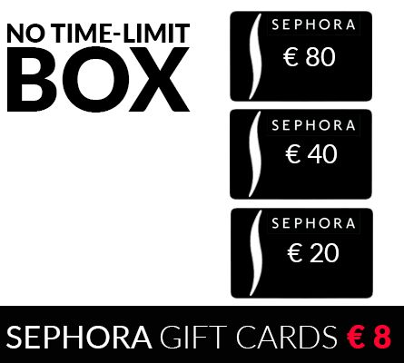 Sephora coupons - Buy these Gift Cards for € 8 or get 100%Cashback!