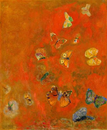 RedonArtists, Butterflies, Odilon Redon, Colors, Art Prints, Evocative, Canvas, Detroit Institution, Art Painting