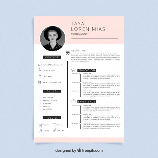 Download Curriculum Template With Minimalist Style For Free Curriculum Template Resume Design Template Resume Template Free