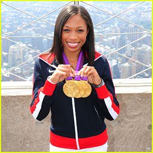 オリンピックで金メダル獲得したアリソン・フェリックス