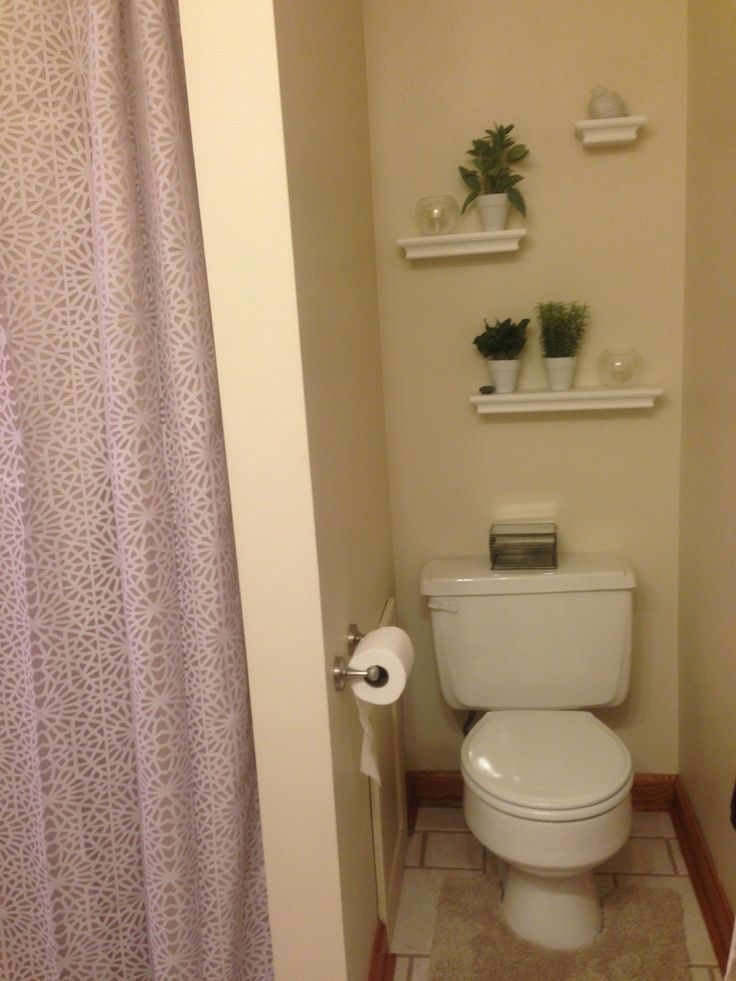 Shelves Above Toilet With Artificial