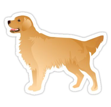 Golden Retriever Basic Breed Silhouette • Also buy this artwork on stickers, apparel, phone cases, and more.