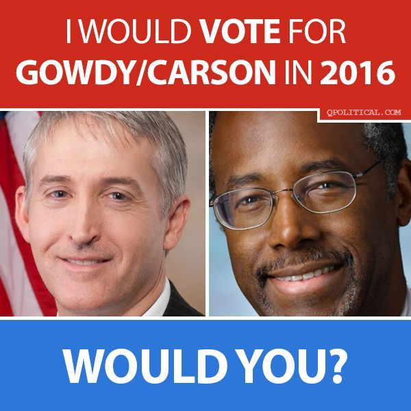 I would be o.k. with this ticket, but my first choice would be: Scott Walker & Trey Gowdy