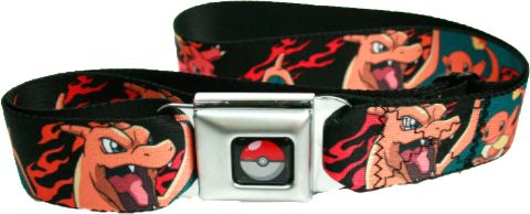 - Features Charmander, Charmeleon, and Charizard - Seat Belt Style Buckle - Fits Up To A Size 42 Waist - Officially licensed - Nylon