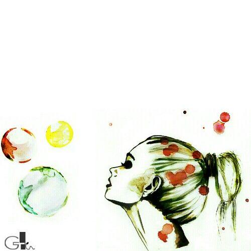 #bubbles #soap  #bubblesoap #myart #mywork #collage #watercolor #waterbrush #drawing #art #painting #ink #illustration#woman #fashion #white #black #design #artwork  #sketch @laikag  | GAIA TELESCA |