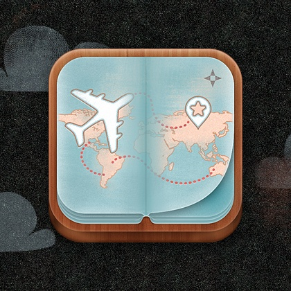 Travelog App Icon design by Jason Yoo. - Best Mobile Designers In The World   Scoutzie