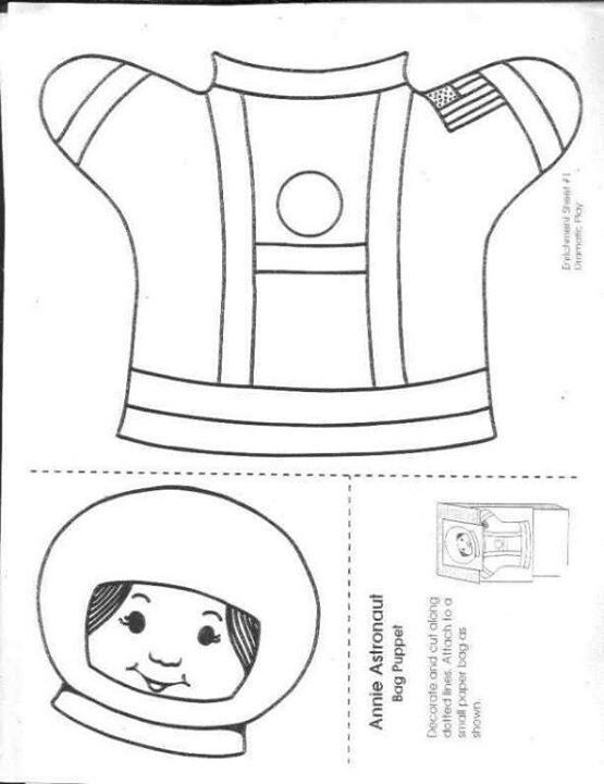 Images of Astronaut Puppet Template - #SpaceHero