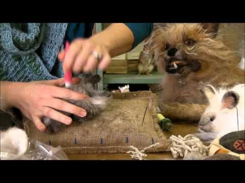 Needle Felting Instruction: Bunny Puff Episode 3, Adding the Angora by Sarafina Fiber Art
