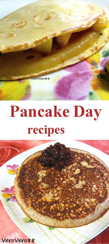 PFANNKUCHEN with APPLE MOUSSE & BUCKWHEAT pancake with CRANBERRY JAM / Pfannkuchen con mousse di mele & Pancake al grano saraceno con marmellata di mirtilli rossi #recipe #ricetta #Varese #VeroVero88 #dessert #Pancake #PancakeDay