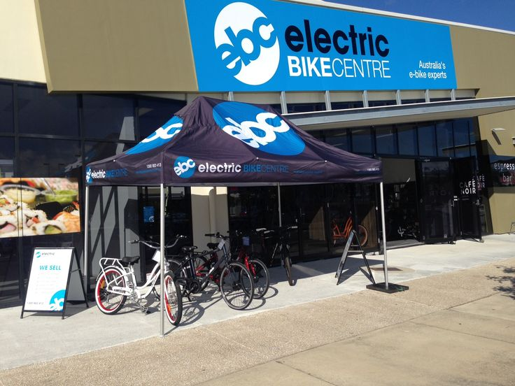 First time putting up the EBC tenet outside the new Electric Bike Superstore on Sunshine Coast