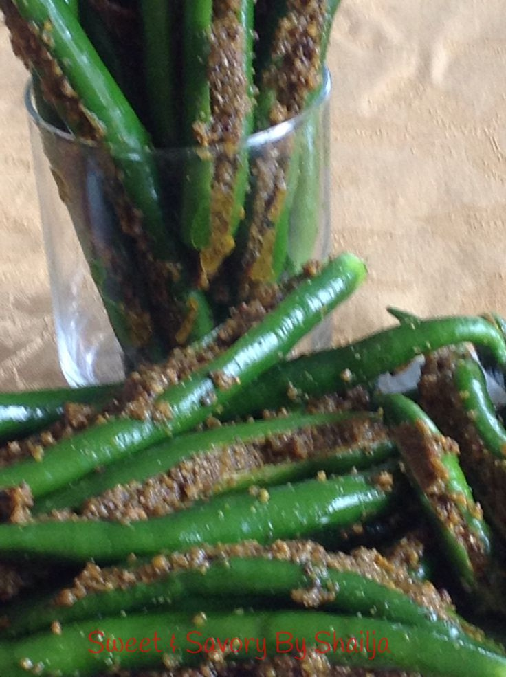 Green Chilli Pickle-North Indian Style/Hari Mirch Ka Achaar
