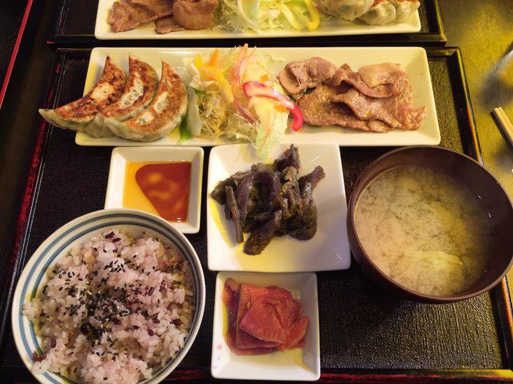 第60回松戸市七草マラソン大会後に北松戸駅前で食べたランチセット