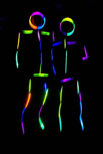 Tape glow sticks to your clothing for some nighttime dancing fun!