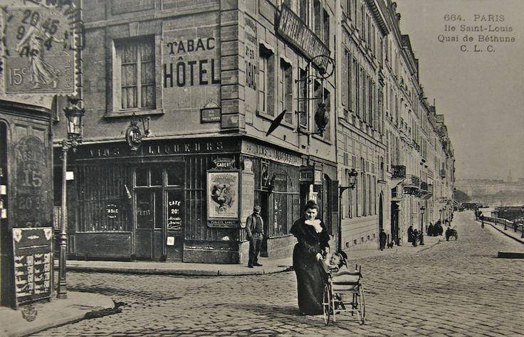 Le quai de Béthune sur l'Île Saint-Louis au XIXe siècle