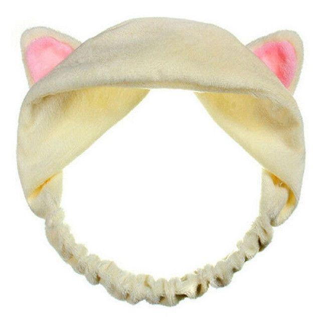 Cute Fashion Women Girls Cat Ears Soft Cotton Headband Hairband Party Headdress